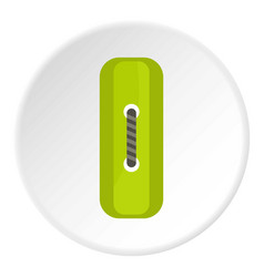 Green rectangle sewing button icon circle vector