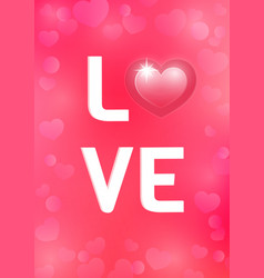 greeting card for st valentines day vector image