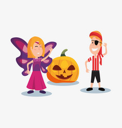 Halloween people customes vector