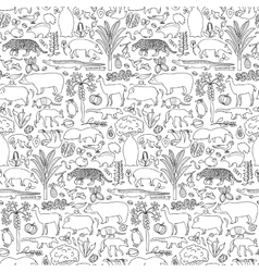 hand drawn south america seamless pattern vector image