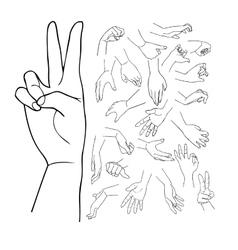 Hands set part 1 vector image