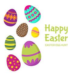 happy easter easter egg hunt background vector image