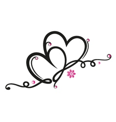 Hearts border vector image