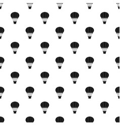 hot air balloon with basket pattern vector image