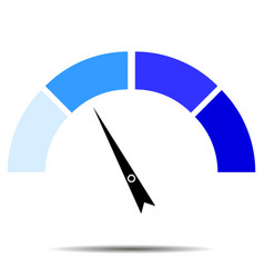 indicator blue with pointer needle vector image