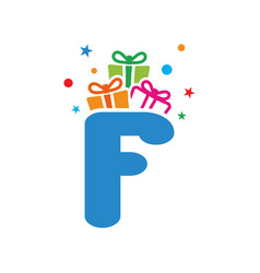 initial gift f vector image