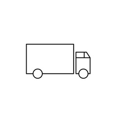 lorry icon vector image