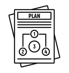 management plan icon outline style vector image