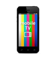 Mobile tv vector