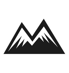 mountain shape icon two peak adventure symbol vector image