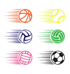 moving balls set vector image