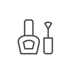 nail polish line icon vector image
