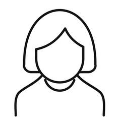 nursing elderly icon outline style vector image