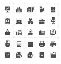 office and stationary filled icon vector image
