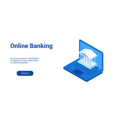 online banking lp template 2 vector image