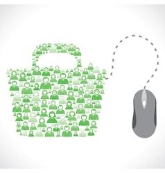 online shopping bag vector image