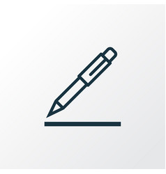 Pen outline symbol premium quality isolated vector