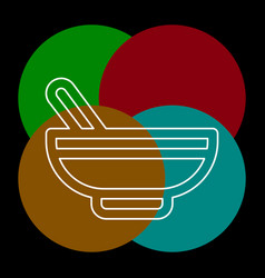 Pharmacy medicine - herbal bowl vector