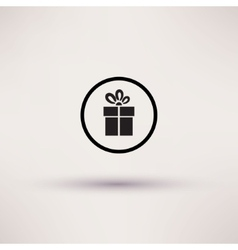 Pictograph of gift icon Template for design vector image