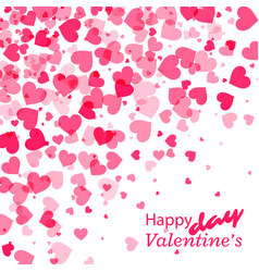 pink heart valentines day background vector image