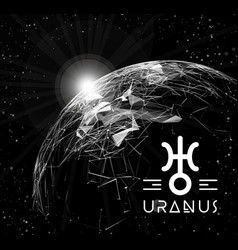 Planet uranus in the form of polygonal mesh vector