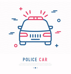 police car thin line icon vector image