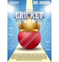 Poster template of cricket sports vector