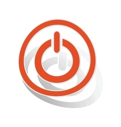 Power sign sticker orange vector