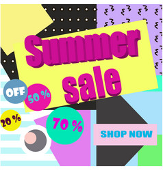 Sale poster with geometric shapes vector