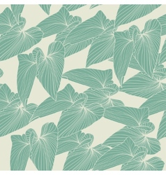 Seamless abstract background with leaves vector image