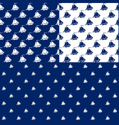 seamless marine pattern with sailboat vector image