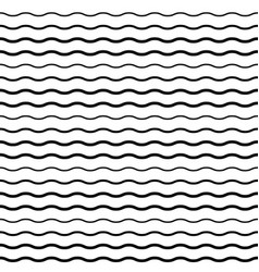 seamless pattern with smooth wave lines vector image