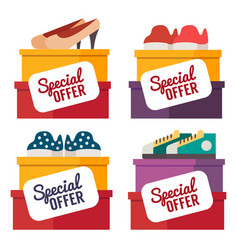 Shoes sale shopping vector
