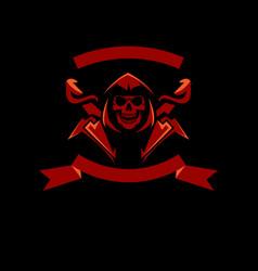 Skull logo design template vector