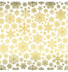 snowflakes pattern seamless on white background vector image