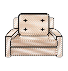 sofa chair comfort furniture vector image