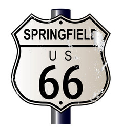 Springfield route 66 sign vector