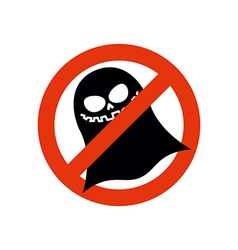 Stop ghost Forbidden ghost Frozen silhouette vector