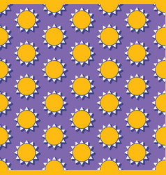 Summer seamless pattern with sun vector