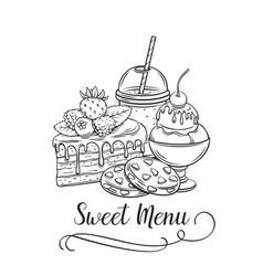 sweet icon retro style vector image