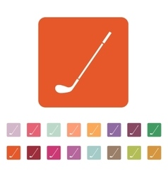 The golf icon Game symbol Flat vector image
