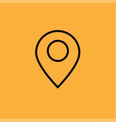 Thin line google map icon vector