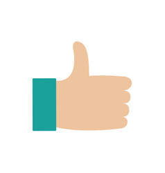 Thumbs up design vector