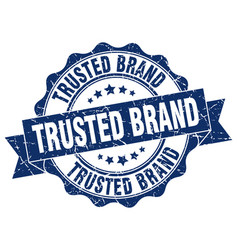 trusted brand stamp sign seal vector image