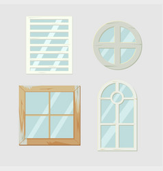 vintage old window frame antiques vector image