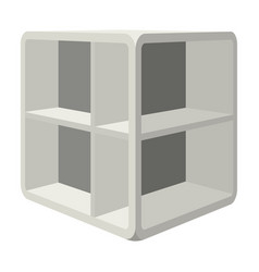 small room coffee tablewhite table with cells vector image