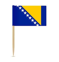 flag bosnia and herzegovina vector image