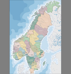 map of norway and sweden vector image