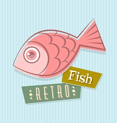 Retro fish vector image