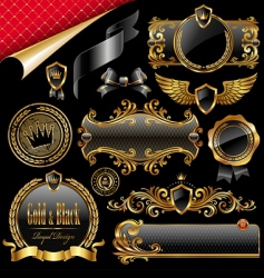 royal design elements vector image